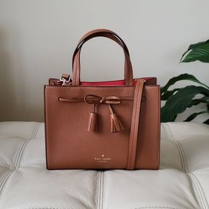 Kate Spade Hayes Small Satchel in Warm Gingerbread